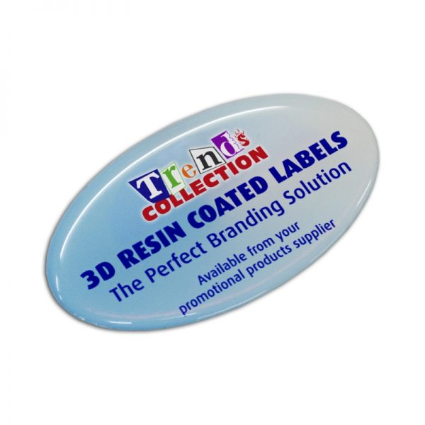 Resin Coated Labels 74 x 43mm Oval 100136
