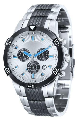 EU4056 Gemini Mens Chronograph Watch with Date