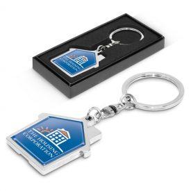 Promotional House Metal Key Ring 100322