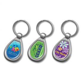 Promotional Drop Metal Key Ring 100324