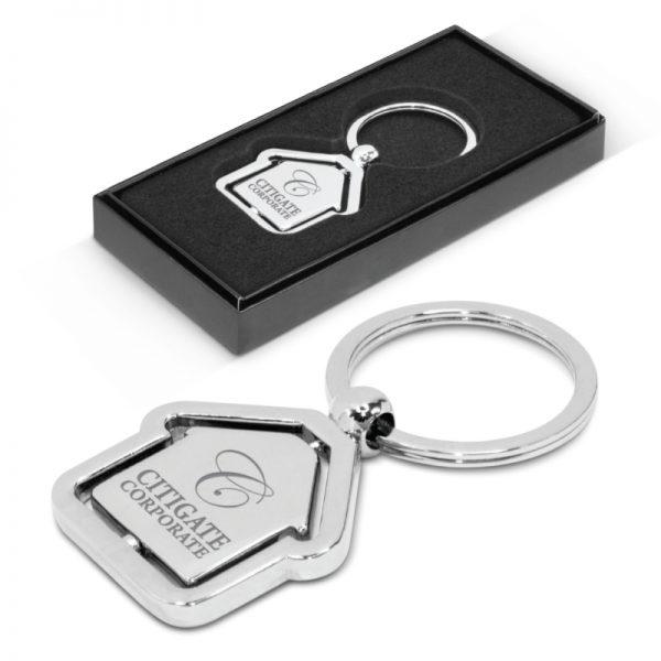 Spinning House Metal Key Ring 104886