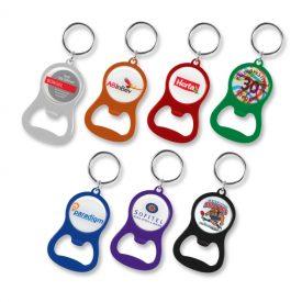 Promotional Chevron Bottle Opener Key Ring 107106