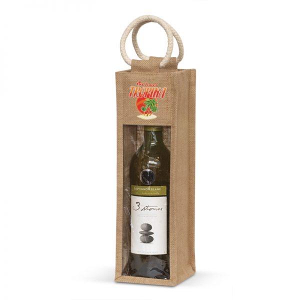 Serena Jute Wine Carrier - 108039