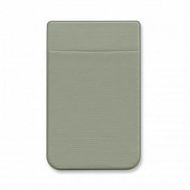 Promotional Lycra Phone Wallet - Heat Transfer - 111762 Light Grey