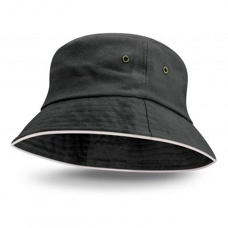 Bondi Bucket Hat White Sandwich Trim - 115740