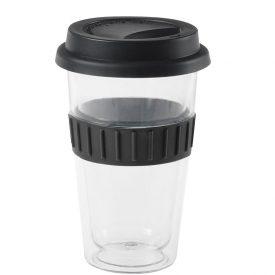 Plastic Double-Walled Mug Black
