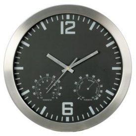 WCAR1 WALL CLOCK ALUMINIUM ROUND 254MM