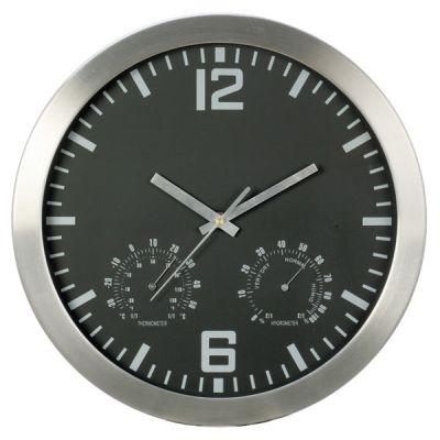 WCATR1 WALL CLOCK ALUMINIUM TEMPERATURE ROUND 254MM