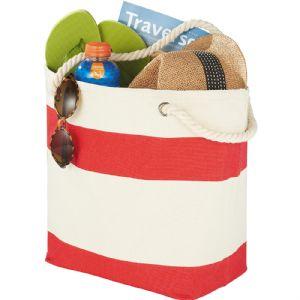 Capri Stripes Cotton Shopper Tote 5158