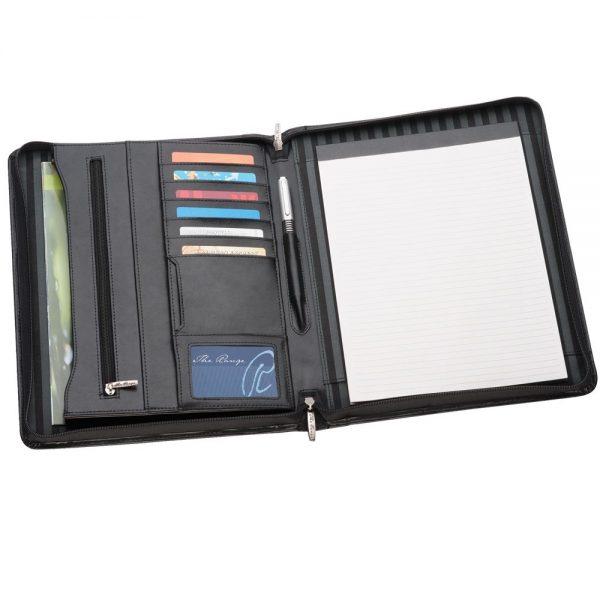 884BK A4 Leather Compendium