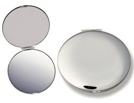 8904 Silver Compact Mirror