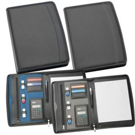 A4 Zippered Compendium with Calculator 9038