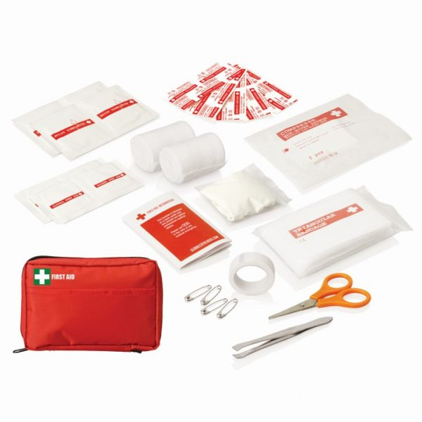 30pc First Aid Kit - Carry pouch w/front pocket -  FA113