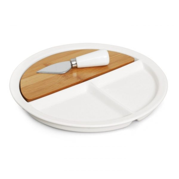 3pc Ceramic/Bamboo Cheese Set -  L480