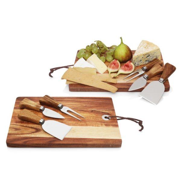 4pc Cheese Set w/Acacia Wood Cheese Board -  L481