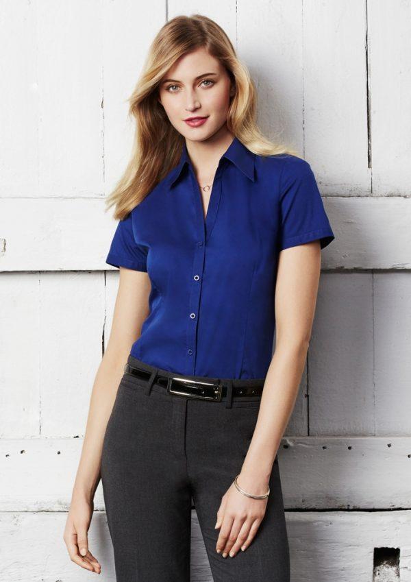 Ladies Metro Short Sleeve Shirt LB7301