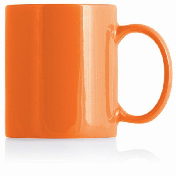 Ceramic Can Mug - 325ml - M236 Orange/White
