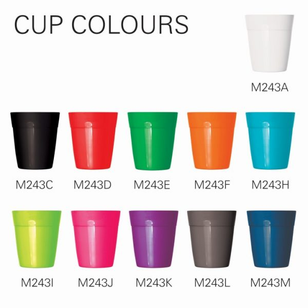 Cup 2 Go - Eco Coffee Cup w/Screw Top Lid -  M243