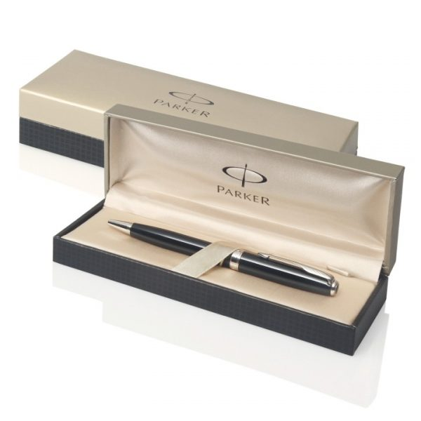 Parker Sonnet Ballpoint Pen - Brushed Stainless GT -  S20081042