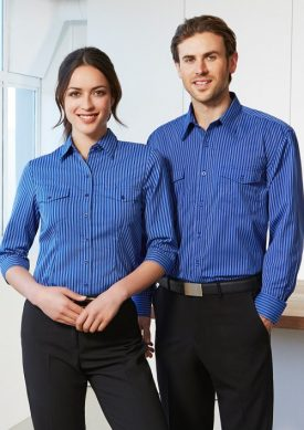 Ladies Cuban 3/4 Sleeve Shirt S10421