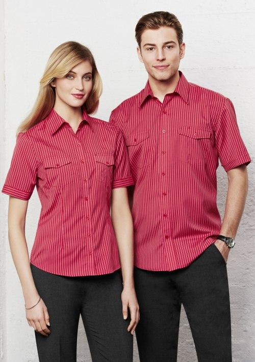 Ladies Cuban Short Sleeve Shirt S10422