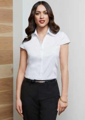 Ladies Metro Cap Sleeve Shirt S119LN