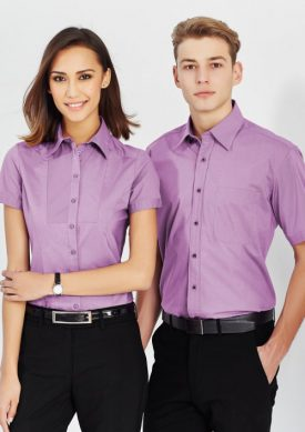 Ladies Chevron Short Sleeve Shirt S122LS