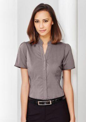Ladies Chevron Stand Collar Shirt S262LS