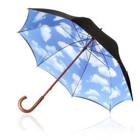 Shelta Big Blue Sky Long Umbrella - U-1444 Open