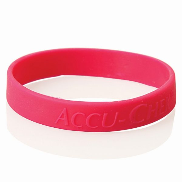 EMBOSSED SILICONE WRISTBAND - PCW013