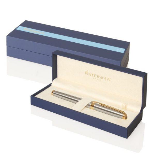 Waterman Hemisphere Rollerball Pen - Brushed Stainless GT -  S20102002