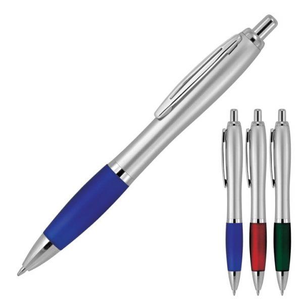 Cara Silver Metal Ballpoint Pen -  Z570