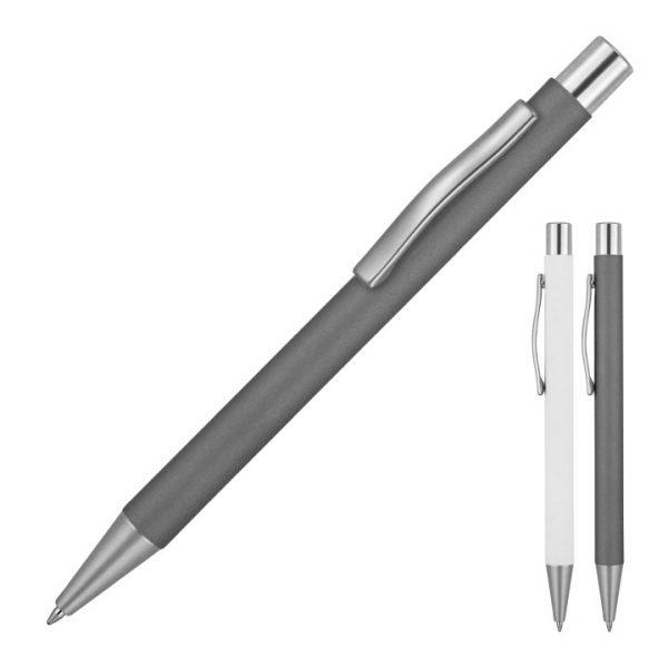 Michaela Satin Matte Rubber Metal Ballpoint Pen -  Z758