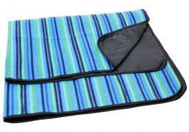 Jamaica Picnic Rug, Blue Stripe  B4802