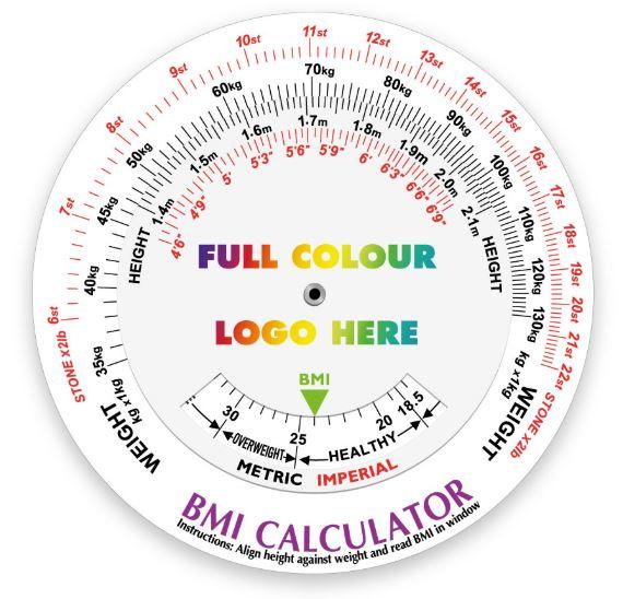Printed BMI Calculator Data Disc