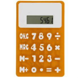 Small rubbery flexible calculator c-175
