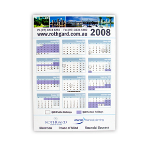 Magnetic Tab Calendar- CL101