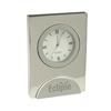 Geneva Silver Quartz Clock D927