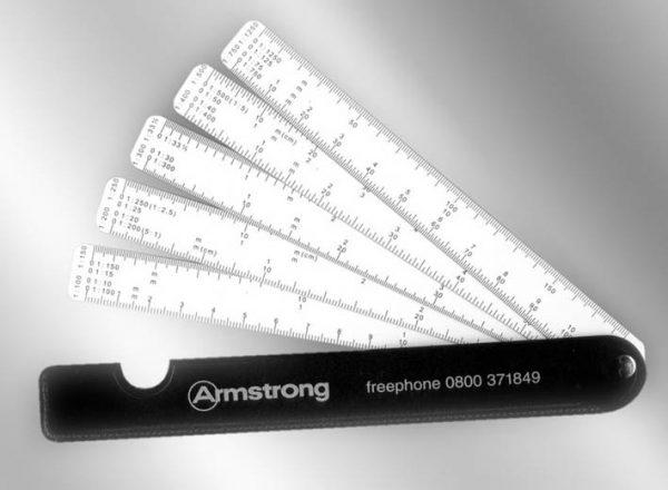 Overprinted 5 Leaf Fan Scale