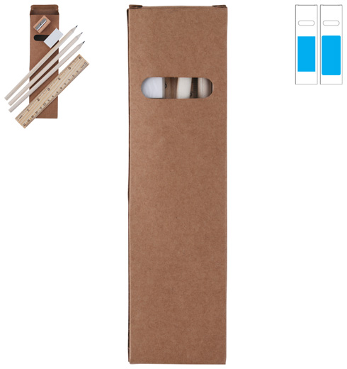 LL0728 Script Stationery Set In Cardboard Box