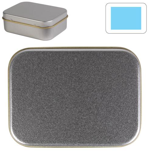 LL321 Silver Rectangular Tin
