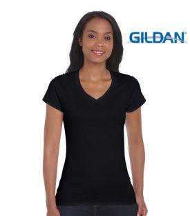 64V00L Softstyle Ladies V-Neck T-Shirt