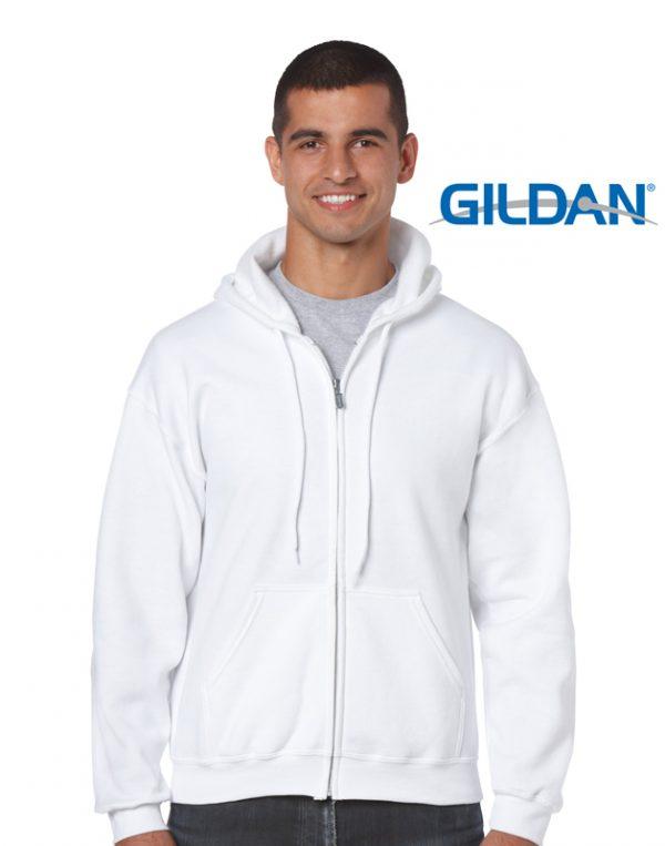 18600 Heavy Blend Adult Full Zip hooded Sweatshirt