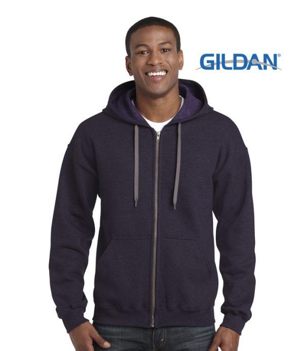 18700 Heavy Blend Vintage Classic Adult Full Zip Hooded Sweatshirt