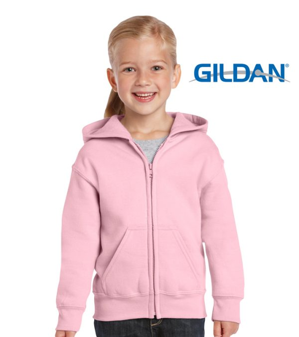 18600B Heavy Blend Youth Full Zip hooded Sweatshirt