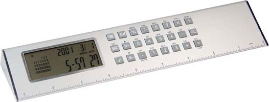 Pyramid World Clock Ruler G1076