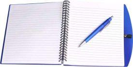 A5 Spiral notebook and pen G1081