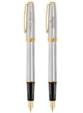 Prelude Matte Chrome/22K Gold Trim Fountain Pen G21181