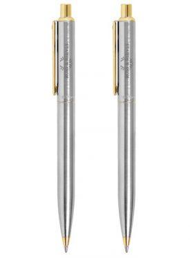 Sentinel Matte Chrome 22K Gold Trim Ballpoint G22223
