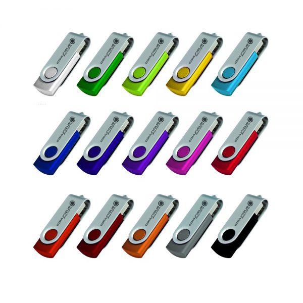 Folding USB 2.0 Flash Drive - 8GB - 16GB